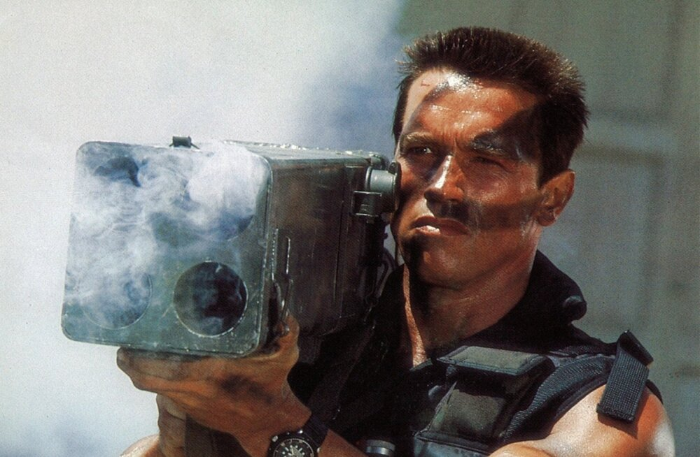 "Arnold Schwarzenegger filmis ""Commando"""
