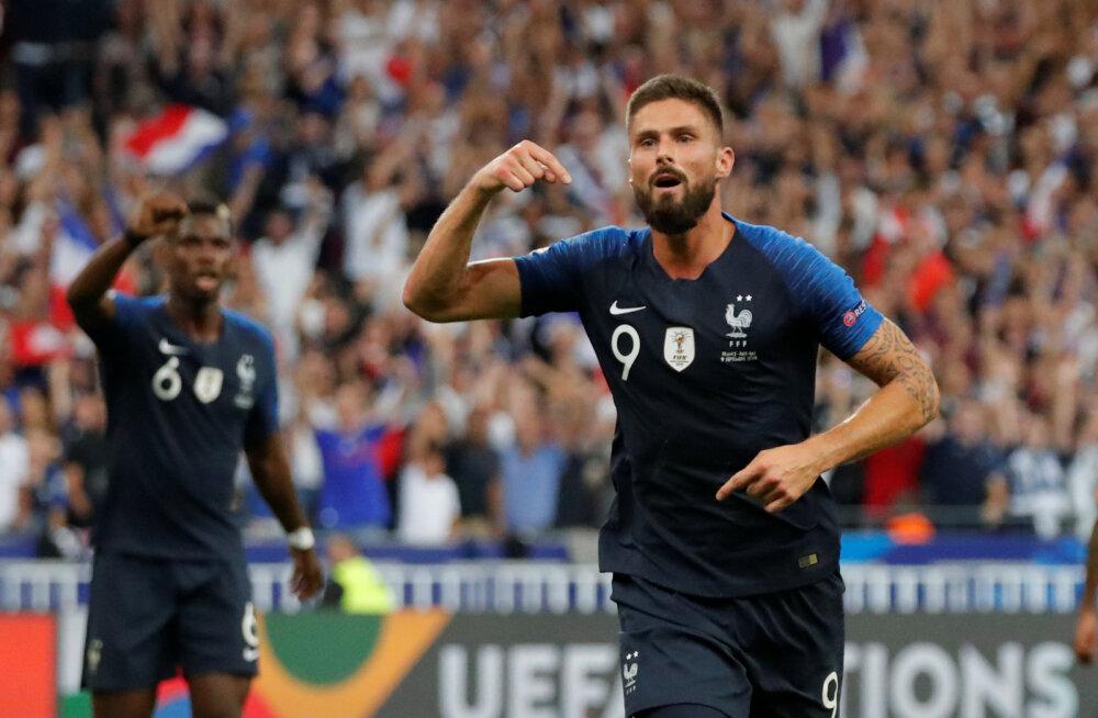 Rahvuste liiga: Giroud lõpetas väravapõua ja aitas Prantsusmaa võidule Hollandi üle, Taani oli parem Walesist