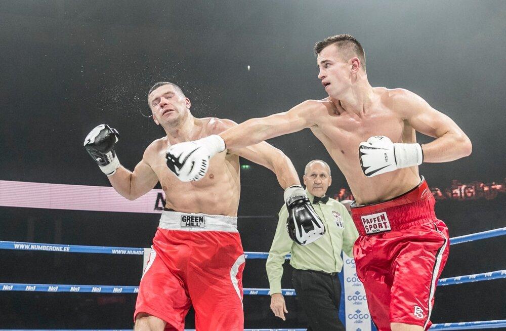 Aleksandr Makušin jälgimas kohtunikuna Rain Karlsoni võidukat debüüti