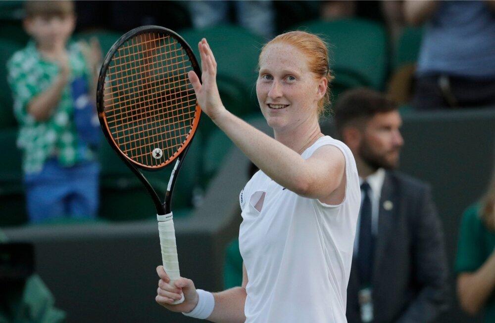 Alison Van Uytvanck alistas Wimbledoni tiitlikaitsja Garbiñe Muguruza.