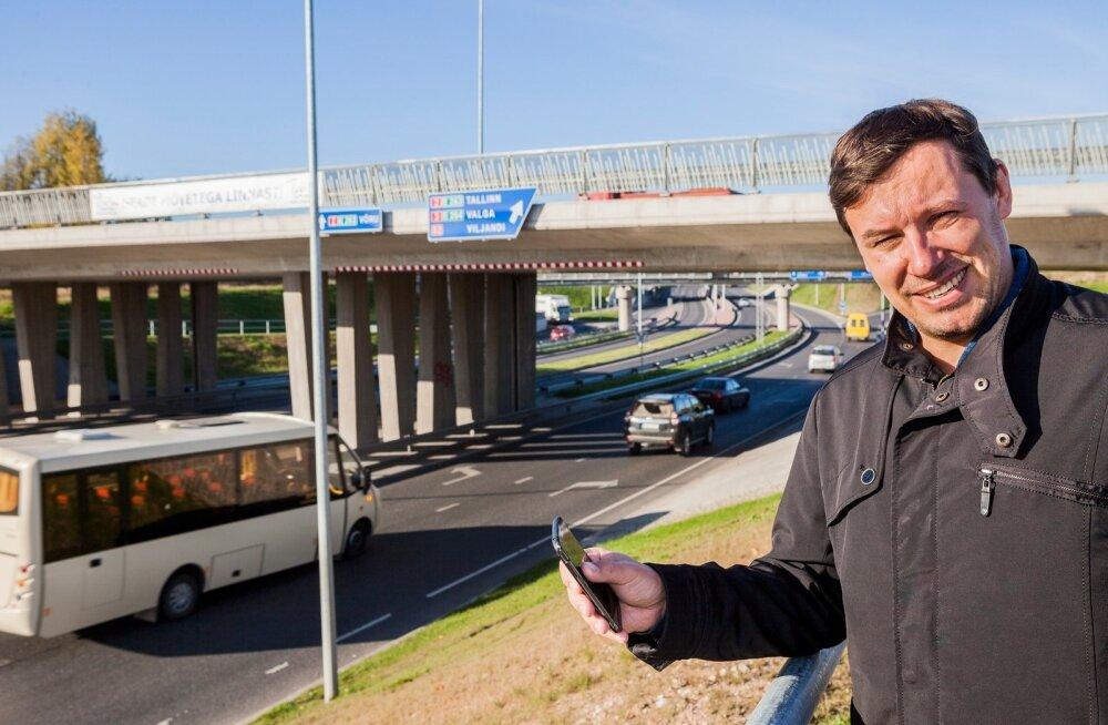Margus Tiru võib mobiilipostsioneerimise andmete järgi öelda, kui palju autosid linna sisse, kui palju linnast välja ja kui palju linnast läbi sõidab.