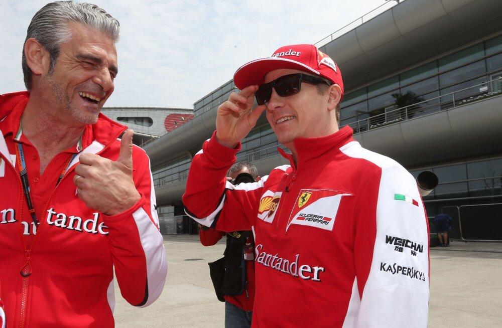 Maurizio Arrivabene ja Kimi Räikkönen