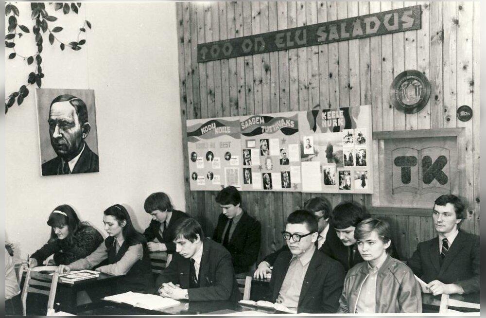 Kadrina keskkooli õpilased kirjandustunnis