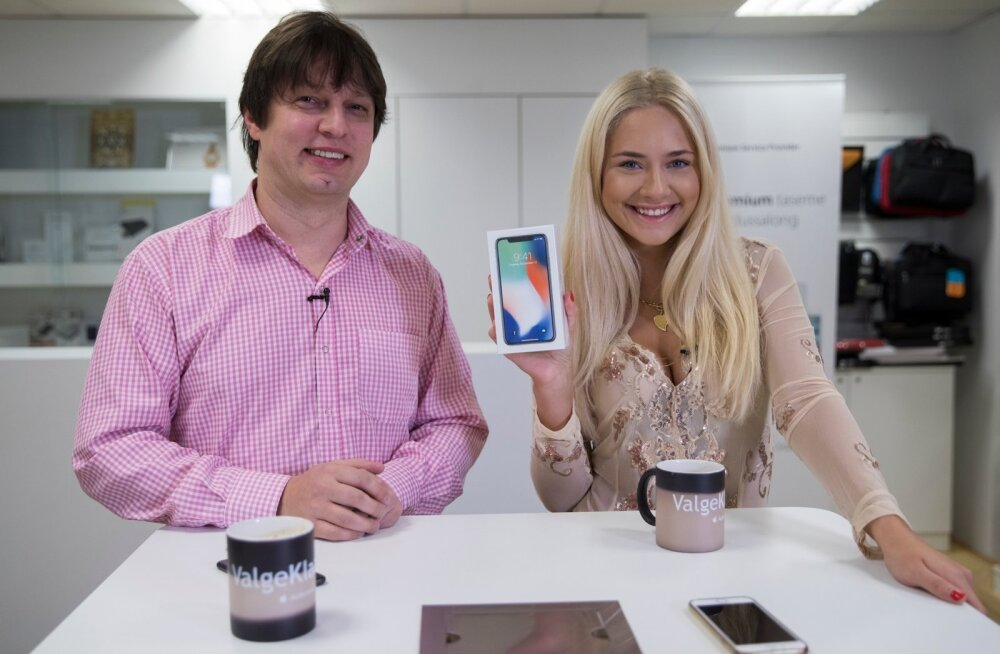 Iphone X üleandmine Brigitte Susanne Hundile