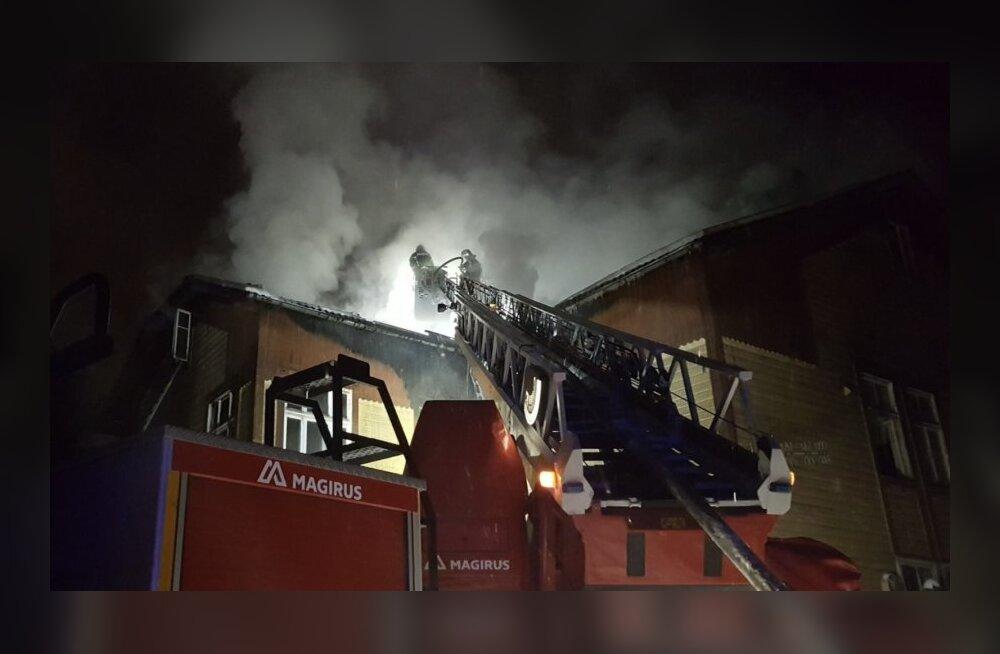 В Тарту в социальном доме произошел пожар