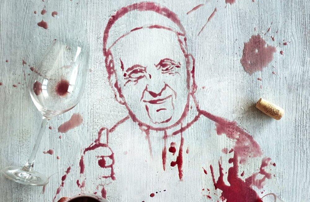 Leedu kristlasi ja muud rahvast üllatas veinist maalitud paavst