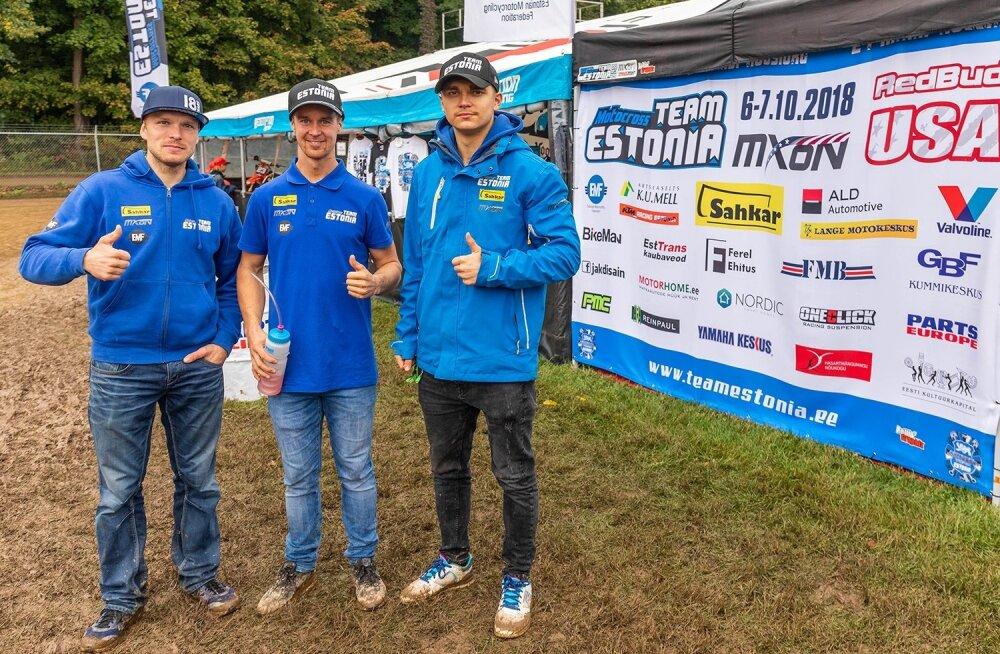 Fotol (vasakult) Tanel Leok, Harri Kullas ja Hardi Roosiorg