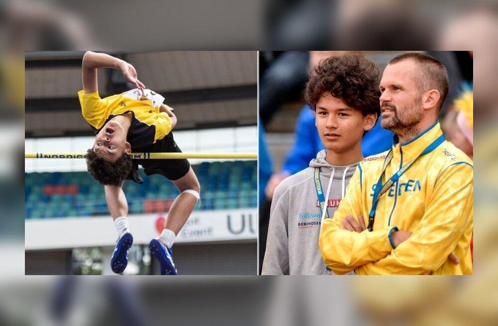 Stefan Holmi 13-aastane poeg tegi superhüppe ning on omaealiste maailmarekordile lähedal