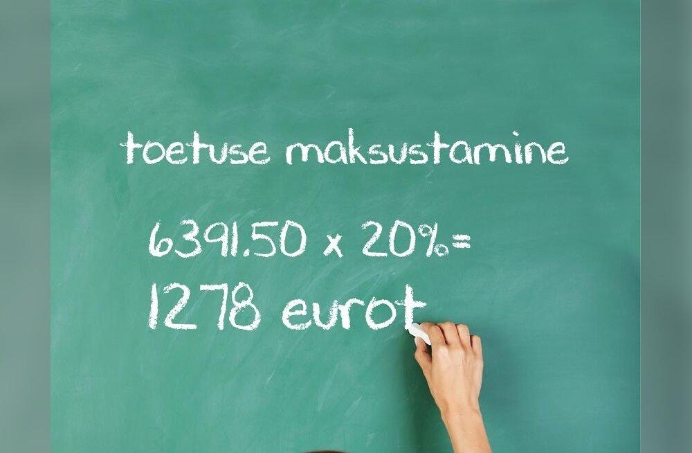 Õpetajatele mõeldud toetusest on seni kätte makstud pool ehk 6391,5 eurot. Juhul kui kogu summa kuulub maksustamisele, peaksid pedagoogid sellelt summalt tasuma riigile tulumaksu 1278 eurot.