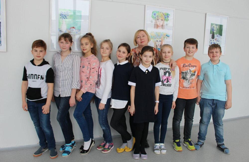 Четвероклассники нарвской Пяхклимяэской гимназии заняли второе место на мировых онлайн-состязаниях по устному счету