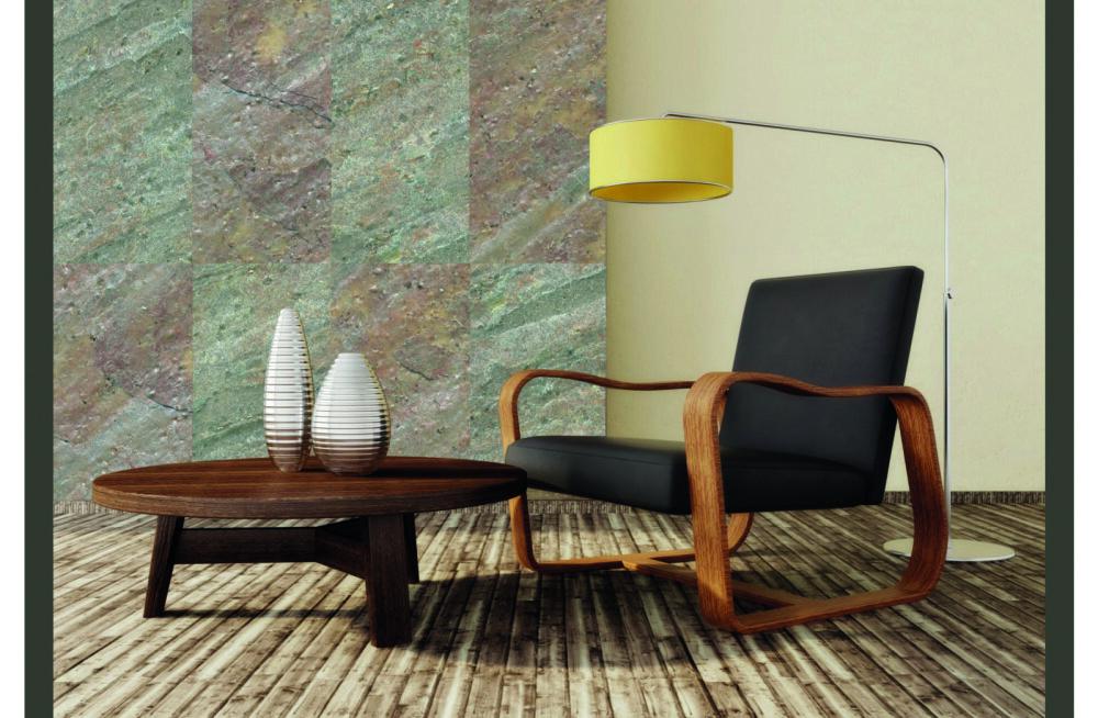 Привлекательный каменный шпон придает помещениям близкий к природному вид