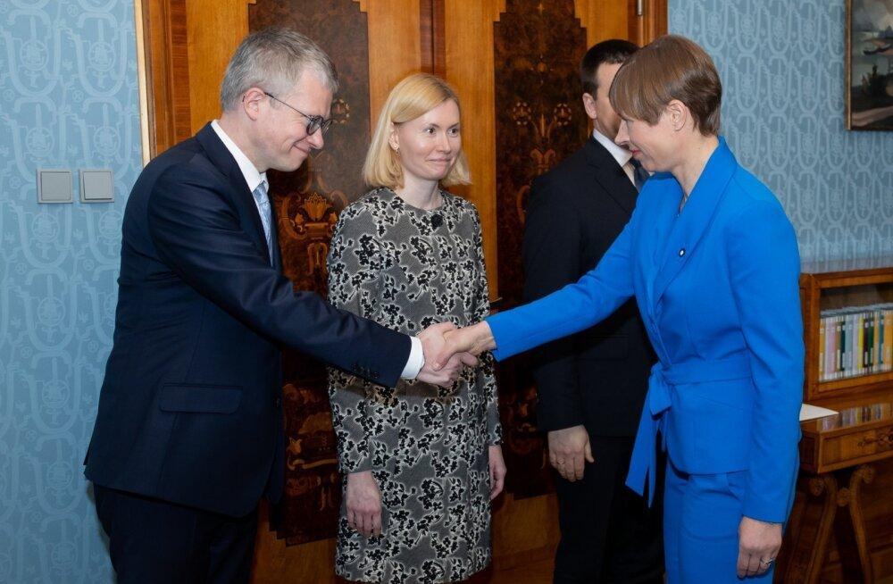 President Kersti Kaljulaid nimetas eile ministriteks Janek Mäggi ja Riina Sikkuti.