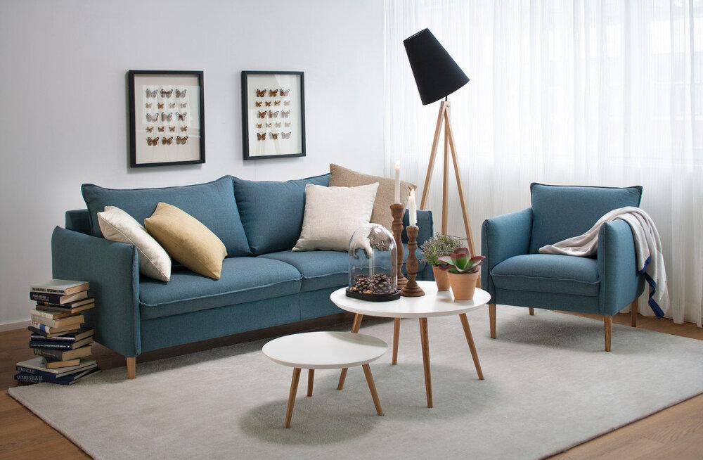 Täiuslik interjöör koosneb hoolikalt valitud mööbliesemetest