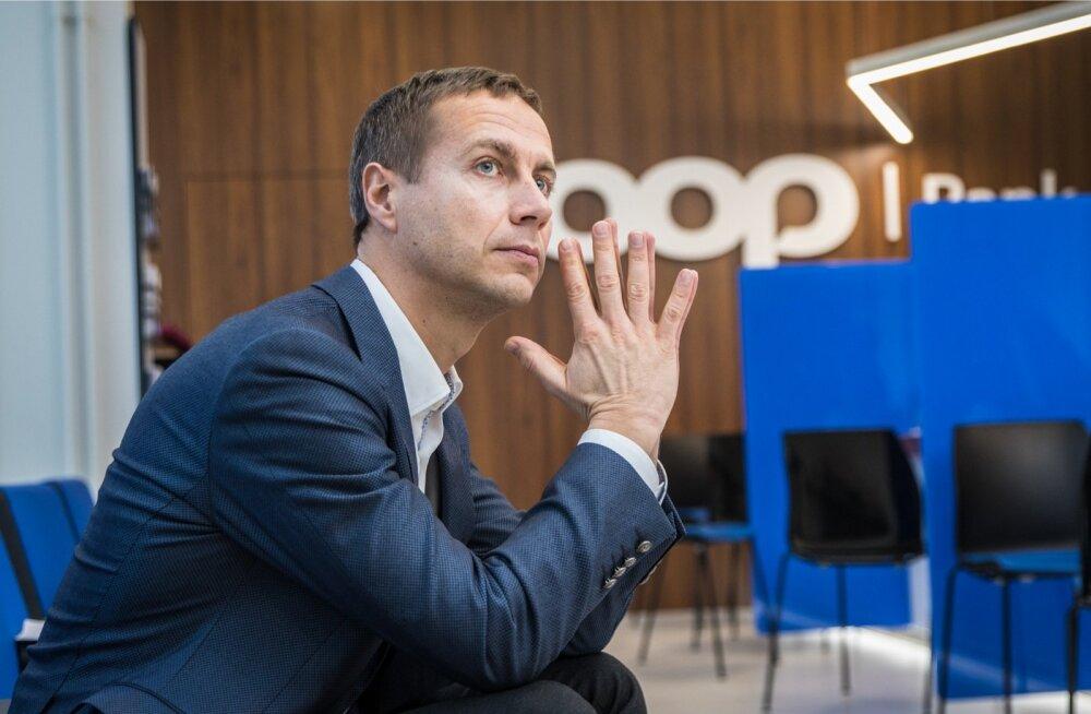 Coop Panga juht Margus Rink tõdeb rõõmuga, et nüüdseks on väljastatud üle 13 000 pangakaardi.