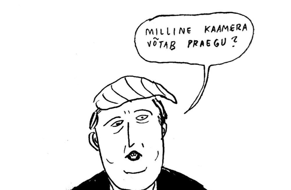 Liisa Kruusmägi & Janno Pikkat, kes teevad naljapiltidega särke (www.awstuff.xyz), pakuvad, mis Trumpi kõige rohkem huvitab.