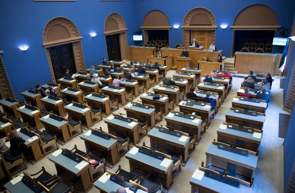 Riigikogu suures saalis arutati eile teisel lugemisel pikalt 2018. aasta eelarvet.