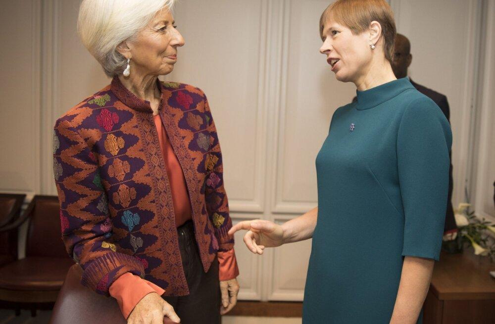 Kersti Kaljulaid IMF-i juhile Christine Lagarde'ile: inimesed ise on parimad digiriigi vedurid