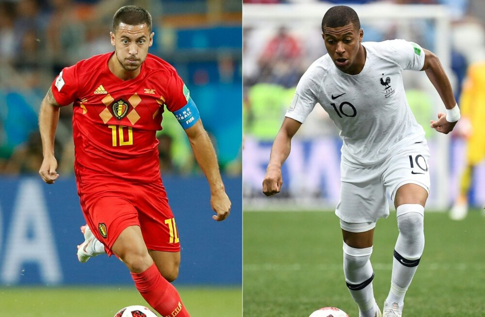 Eden Hazard ja Kylian Mbappe