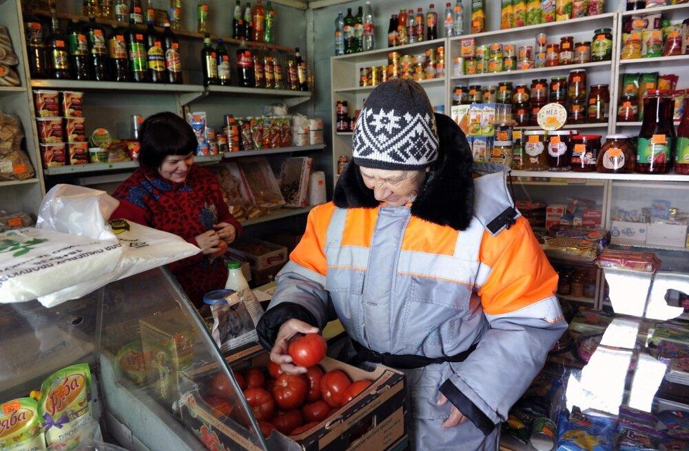 Venemaalane kaupluses.