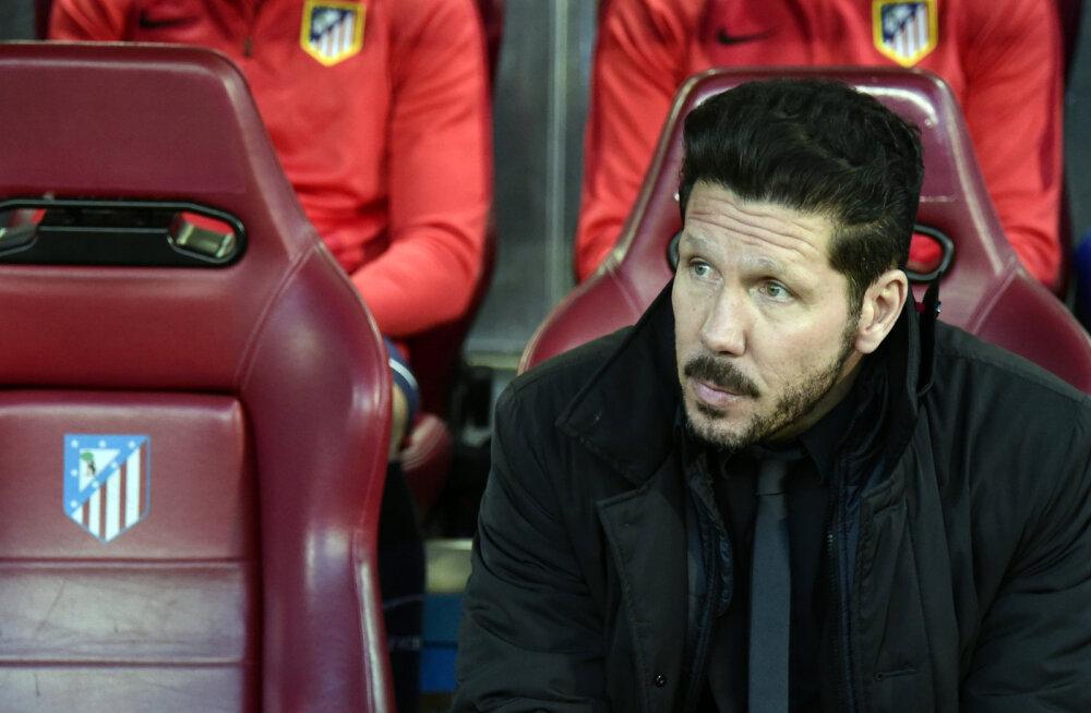 Atletico peatreener sai hooaja lõpuni kestva juhendamiskeelu