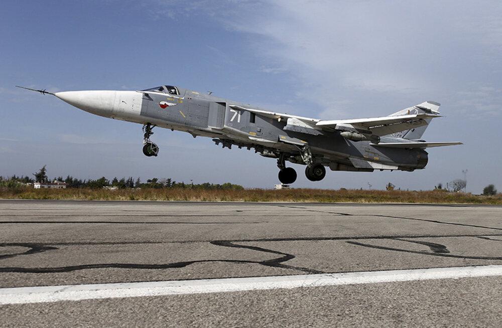 Российский Су-24 разбился при взлете в Сирии, экипаж погиб