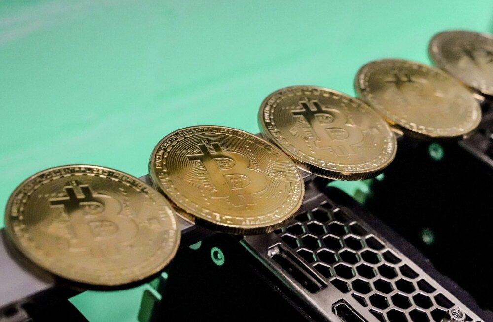 Bitcoini kaevandamine.