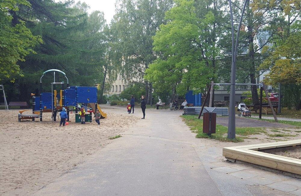 В Кесклинне появились новые площадки для детей и подростков