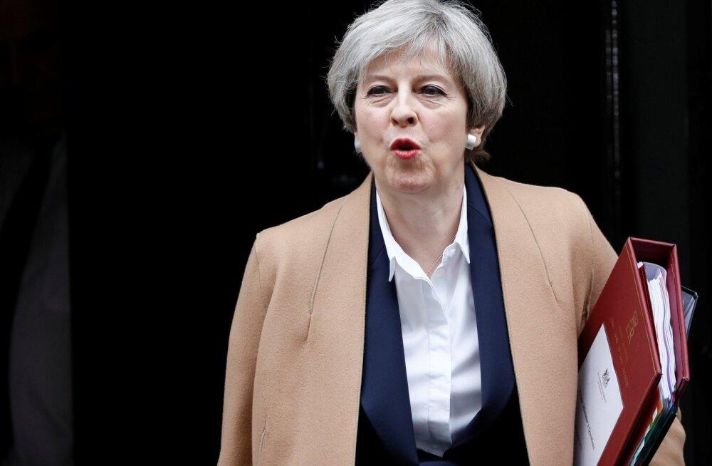 """Peaminister Theresa May nimetas EL-ist lahkumise algust Suurbritannia """"ajalooliseks momendiks, kust pole enam tagasiteed""""."""