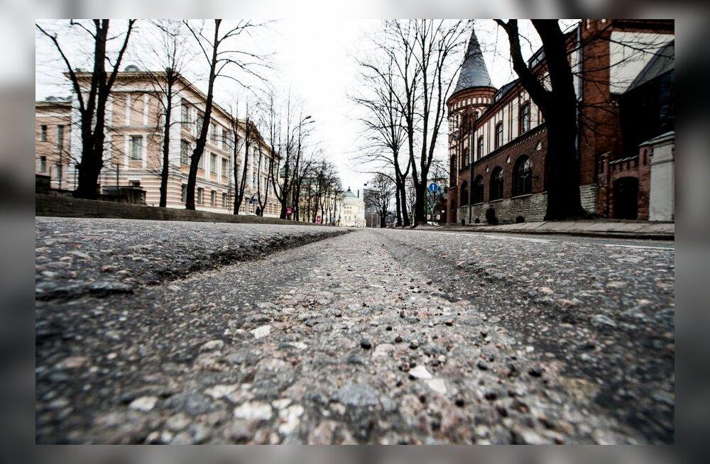 FOTOD: Estonia puiesteel vajuvad teevaalud üha sügavamaks ja sügavamaks