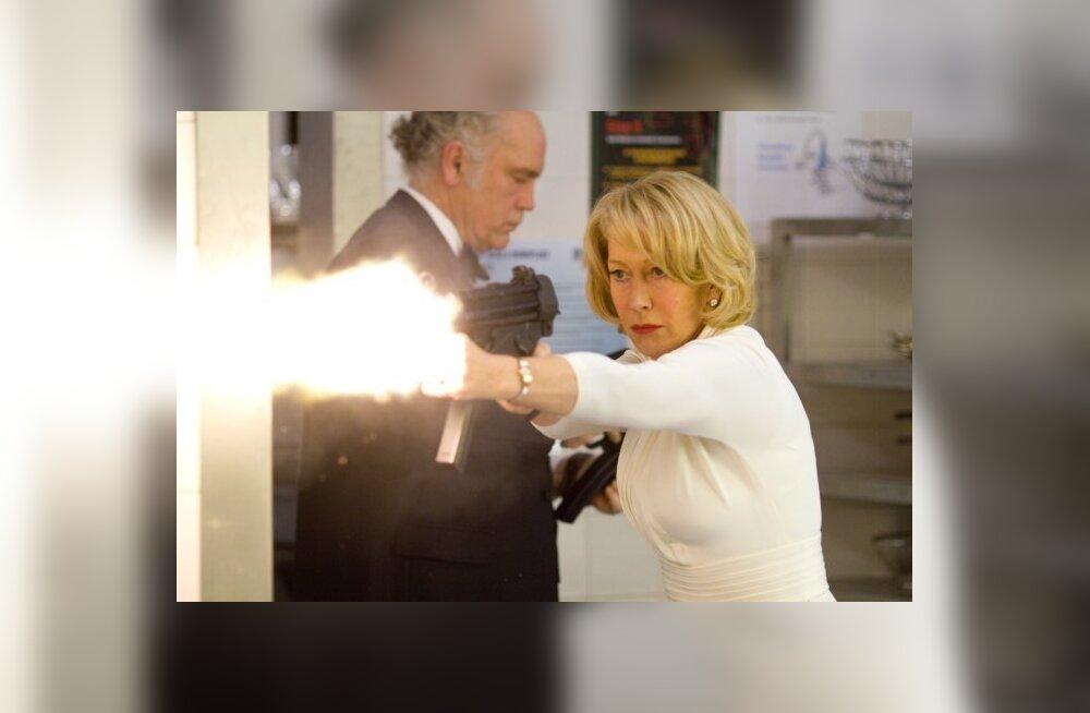 """Võluvat täpsuslaskurit Victoriat kehastab filmis """"RED – eriti ohtlikud agendid"""" Helen Mirren."""