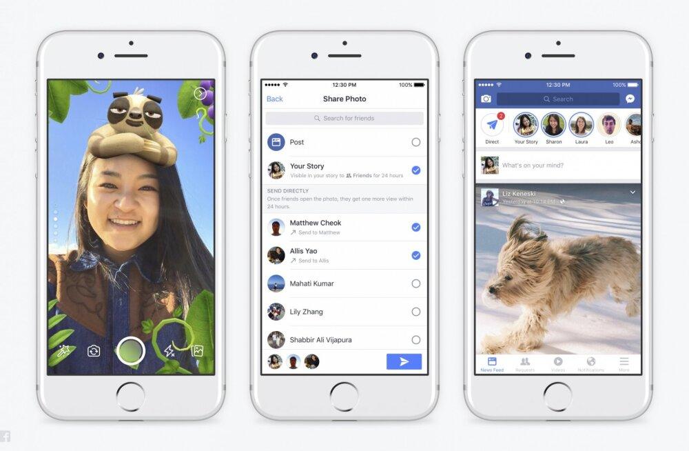 Facebook varastab häbitult kõik Snapchati põhivõimalused ja see on halb kõigile viiele nendega seotud äpile