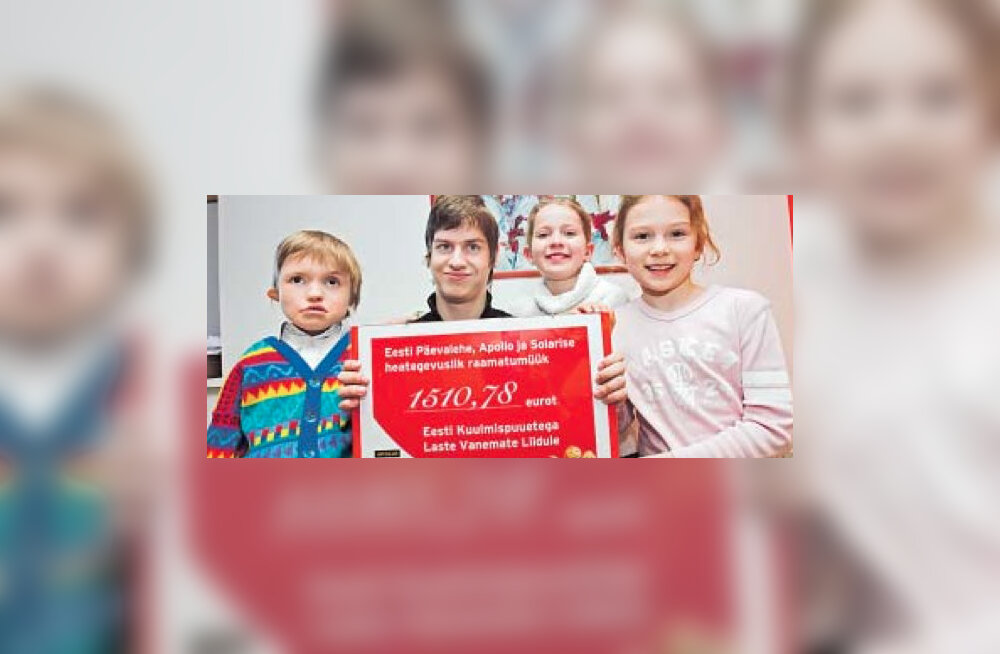 Eesti Päevalehe kirjastuse raamatute ostjad toetasid lapsi