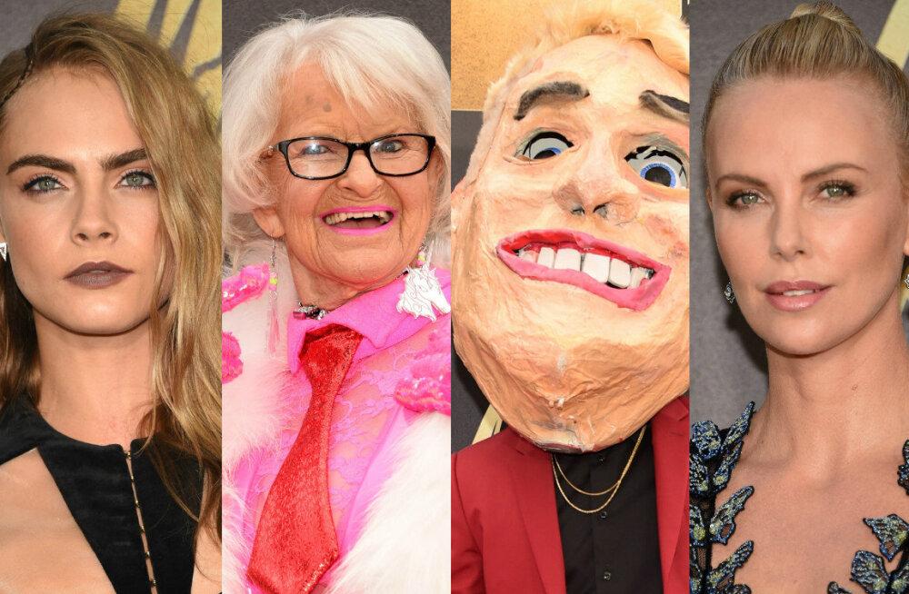 RAJU GALERII: MTV filmiauhindadel jagasid superstaarid punast vaipa veidrikega Interneti hämaramast otsast!