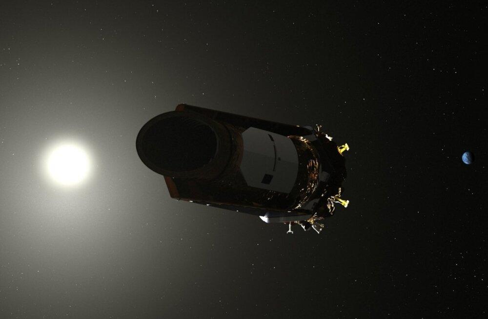Niimoodi on kunstnik kujutanud Kepleri kosmoseteleskoopi.