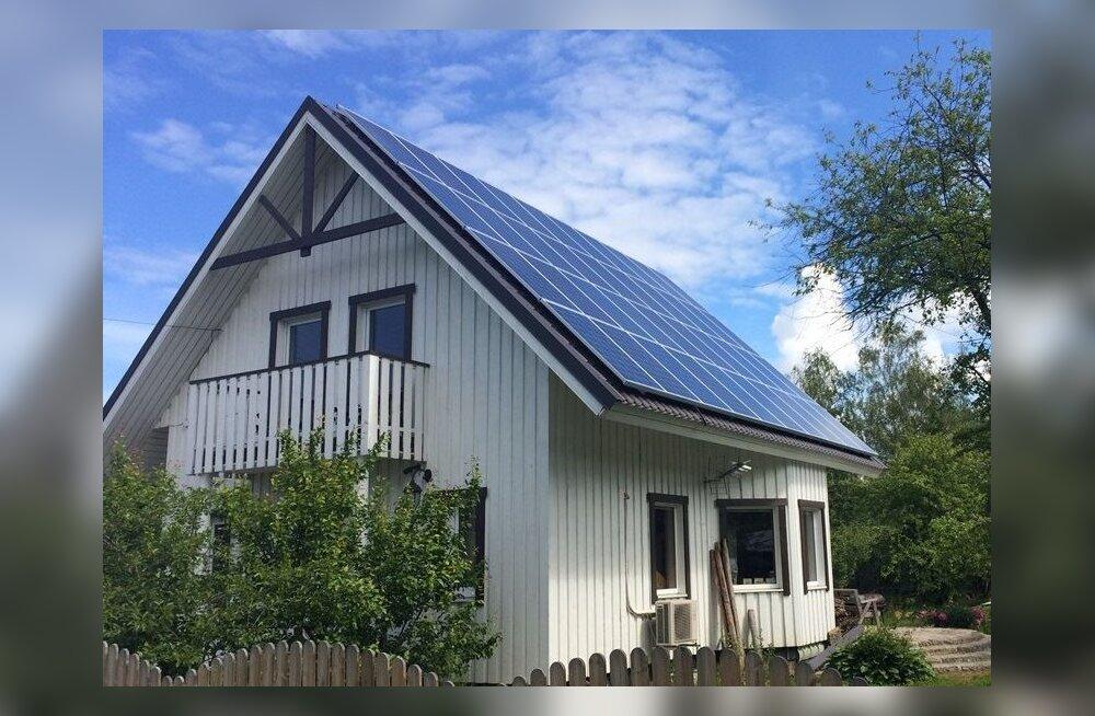Päikeseenergia kasutamine elektri tootmiseks kodudes