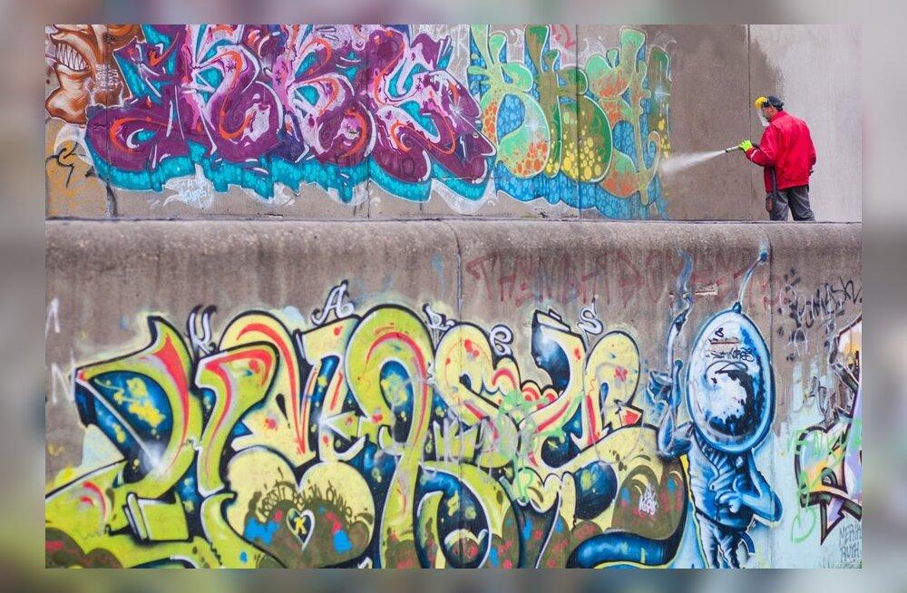 Linnahall jätab hüvasti grafitikirjute seintega