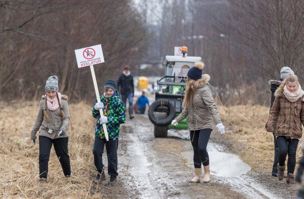 Tallinna noorteorganisatsioonid korraldas koristus Astangu.