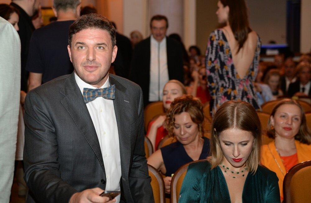 Maksim Vitorgan abikaasa Ksenija Sobtšakiga Sotšis Vene festivali Kinotavr lõputseremoonial