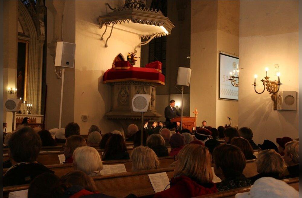 Oleviste kirikus kuulutati avatuks reformatsiooni 500. juubeliaasta