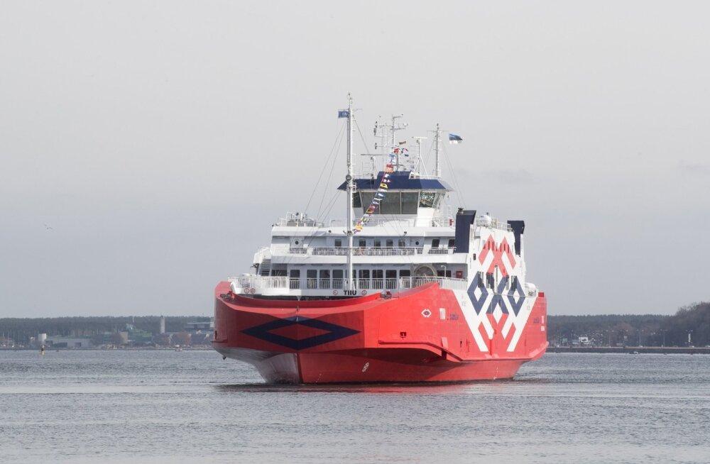 Parvlaev Tiiuga saab Hiiumaale nüüd Virtsust.