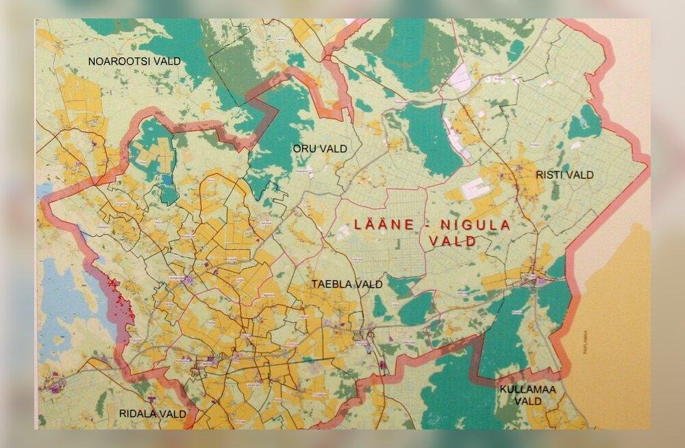 Lääne-Nigula valla kaart