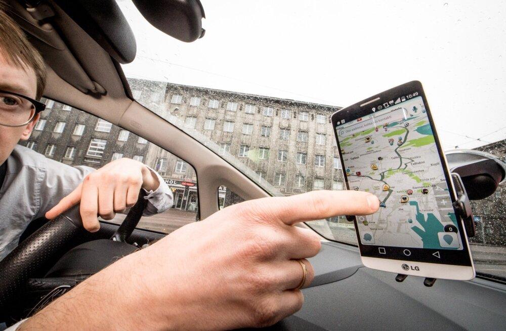 Waze näitab juhile reaalajas, millised liiklusolud teda ees ootavad.