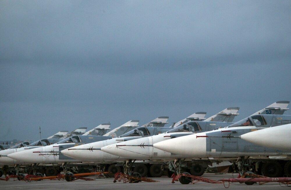 Vene sõjalennukid Süürias