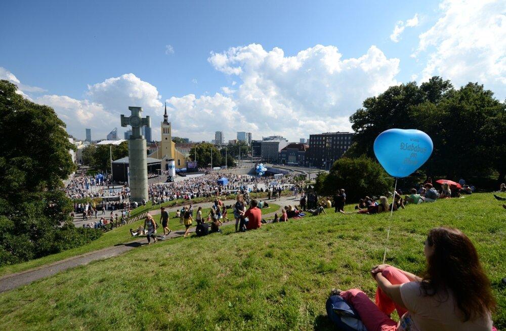 Флешмоб на площади Вабадузе в День Таллинна собрал более 1000 человек