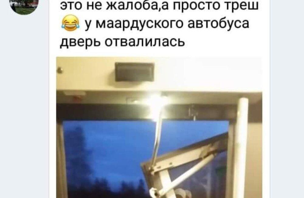 Temptrans AS-i bussil kukkus Maardus uks bussist välja
