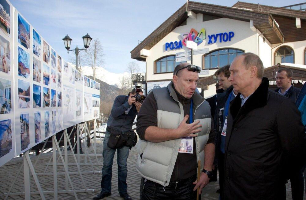 Potanin ja Putin vestlushoos.