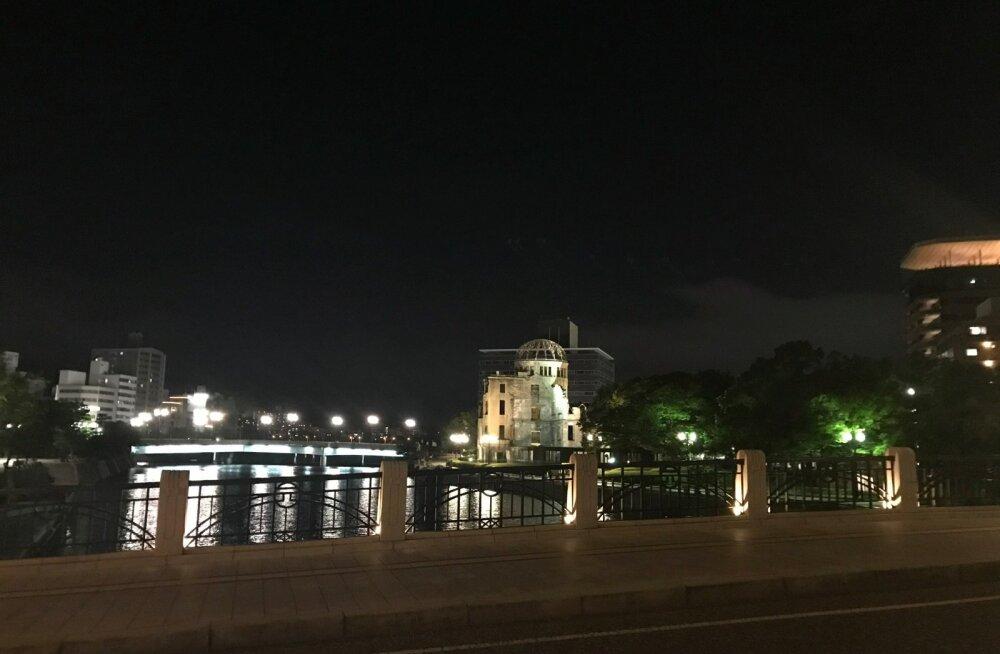 Öine foto Aioi sillalt Atomic Bomb Dome'i suunas