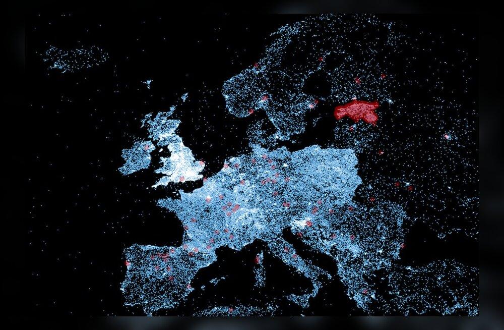 Eesti särab Wikipedia maailmakaardil