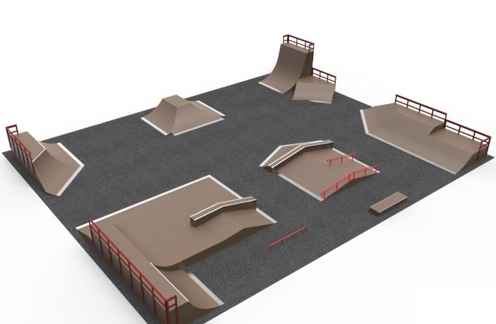 В Маарду будет построен многофункциональный скейт-парк