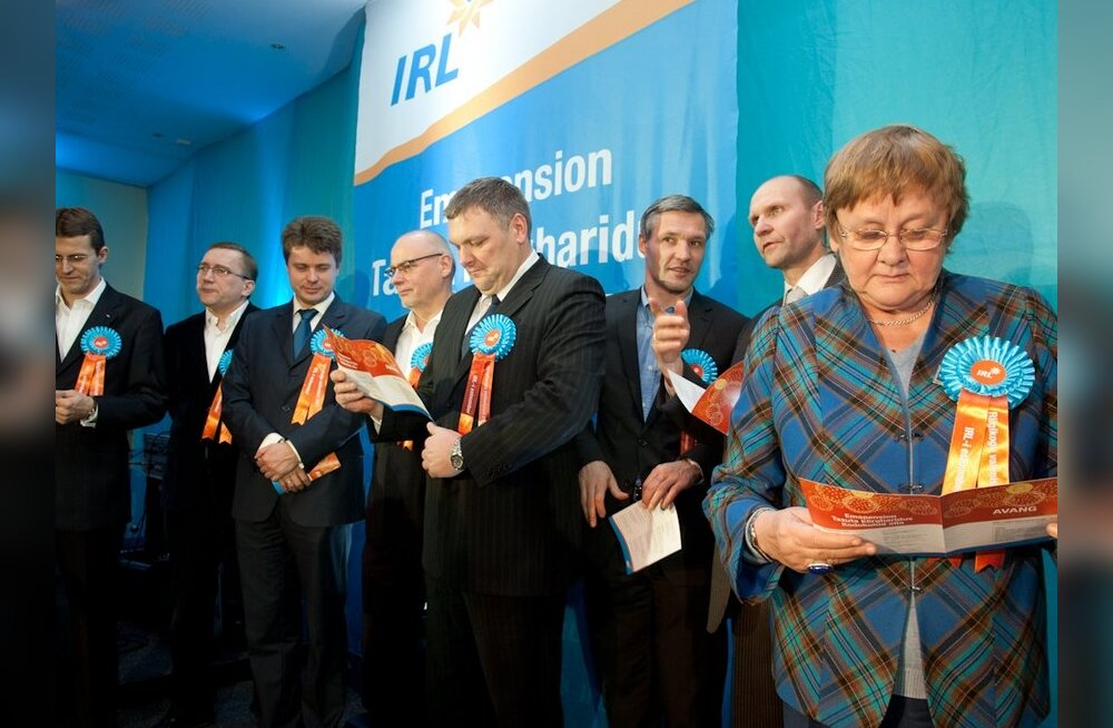 Партия IRL опубликовала первые 30 позиций своего предвыборного списка